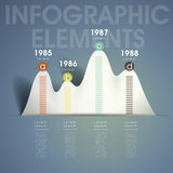 Vector abstract mountain shape chart infographic elements Royalty Free Stock Image