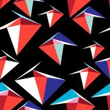 Vector abstract multicolored geometric pattern. Vector abstract multicolored pattern of geometric elements on a black background Stock Photos
