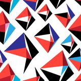 Vector abstract multicolored geometric pattern. On a white background Royalty Free Stock Images