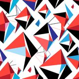 Vector abstract multicolored geometrisch patroon Stock Foto's