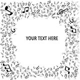 Vector Abstract Music Background. With notes Stock Photo