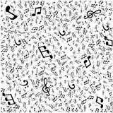 Vector Abstract Music Background. With notes Stock Image