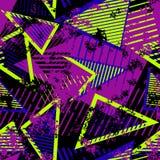 Vector Abstract Naadloos Geometrisch Patroon Moderne stedelijke kunst grunge textuur royalty-vrije illustratie