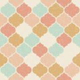 In vector abstract naadloos geometrisch patroon in retro Skandinavische stijl Pastelkleur roze, blauwe, beige en gele vormen Royalty-vrije Stock Foto