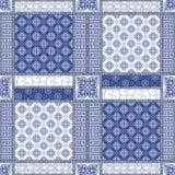Vector abstract naadloos lapwerkpatroon royalty-vrije stock afbeeldingen