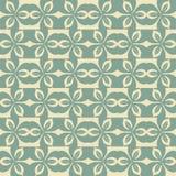 Vector abstract naadloos lapwerkpatroon met geometrische en bloemenornamenten Stock Afbeeldingen