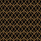 Vector abstract naadloos patroon Art Deco Style Background Geometrische textuur Royalty-vrije Stock Afbeeldingen
