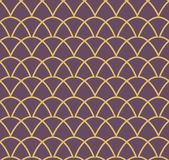 Vector abstract naadloos patroon Art Deco Style Background Geometrische textuur Royalty-vrije Stock Fotografie