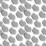 Vector abstract naadloos patroon Hand getrokken elementen Slagen, Stock Foto's