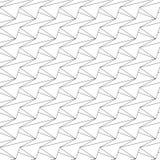 Vector abstract naadloos patroon - lineaire achtergrond stock illustratie