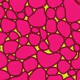 Vector abstract naadloos patroon met binnen tegels Stock Fotografie