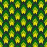 Vector abstract naadloos patroon met gerichte ovalen Stock Foto