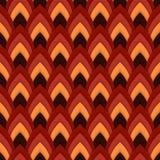 Vector abstract naadloos patroon met gerichte ovalen Royalty-vrije Stock Afbeelding