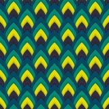 Vector abstract naadloos patroon met gerichte ovalen Stock Foto's
