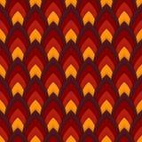 Vector abstract naadloos patroon met gerichte ovalen Stock Fotografie