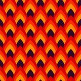 Vector abstract naadloos patroon met gerichte ovalen Royalty-vrije Stock Afbeeldingen