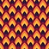 Vector abstract naadloos patroon met gerichte ovalen Royalty-vrije Stock Foto
