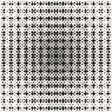 Vector abstract naadloos patroon met langzaam verdwijnend netto netwerk, Radiaal halftone effect royalty-vrije illustratie