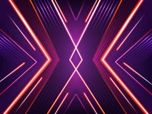 Vector abstract neon background. Bright shining pattern. Of xenon red, purple and pink lamps. Futuristic concept, illuminated illustration. Glowing lines vector illustration