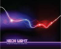 Abstract light background. Vector abstract neon light background Royalty Free Stock Image