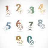 Vector abstract number set Royalty Free Stock Photo