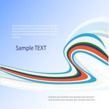 Vector abstract ontwerp in blauw en groen Royalty-vrije Stock Foto