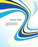 Vector abstract ontwerp in blauw en groen Royalty-vrije Stock Afbeelding