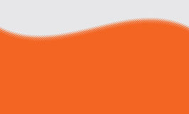 Vector abstract orange background with halftone grunge dot style Stock Images