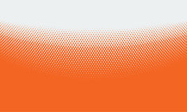 Vector abstract orange background with halftone grunge dot style Stock Photography