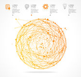 Vector abstract orange sphere infographics. Flat Royalty Free Stock Photography