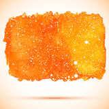 Vector abstract orange watercolor cosmic banner Stock Photo