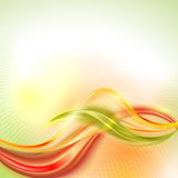 Vector abstract orange wave background Royalty Free Stock Image