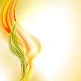 Vector abstract orange wave background Royalty Free Stock Photo