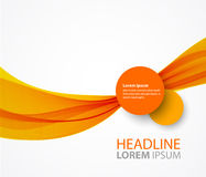 Vector abstract orange wave background Stock Photography