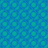 Vector abstract ornament of blue shades seamless texture squares circles of corners for web design and computer graphics.  Royalty Free Stock Photo