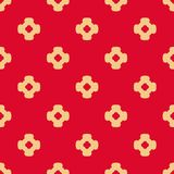 Vector abstract ornamental floral seamless pattern in red and tan colors. Vector abstract ornamental floral seamless pattern. Vintage geometric background with stock illustration