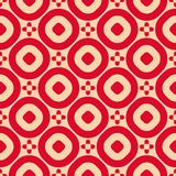 Vector abstract ornamental geometric seamless pattern in red and tan color royalty free illustration
