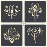 Vector abstract ornaments for design of printed and web products Stock Photography