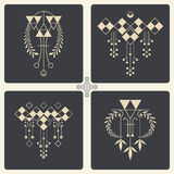 Vector abstract ornaments for design of printed and web products Royalty Free Stock Image