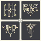 Vector abstract ornaments for design of printed and web products Royalty Free Stock Photos