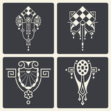 Vector abstract ornaments for design of printed and web products Royalty Free Stock Photo