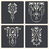Vector abstract ornaments for design of printed and web products Royalty Free Stock Images
