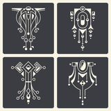 Vector abstract ornaments for design of printed and web products Stock Image