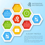 Vector abstract paper infographic background Stock Photos