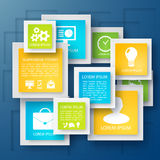 Vector abstract paper infographic background Royalty Free Stock Photos