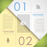 Vector abstract paper infographics Stock Photos