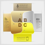 Vector abstract paper infographics. Golden vector abstract paper infographics Royalty Free Stock Images