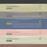 Vector abstract paper infographics. Vector abstract paper infographic elements Stock Photos
