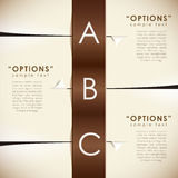 Vector abstract paper infographics. Vector abstract paper infographic elements Stock Image