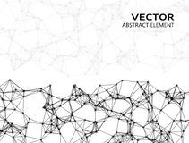 Vector abstract particles Royalty Free Stock Photo